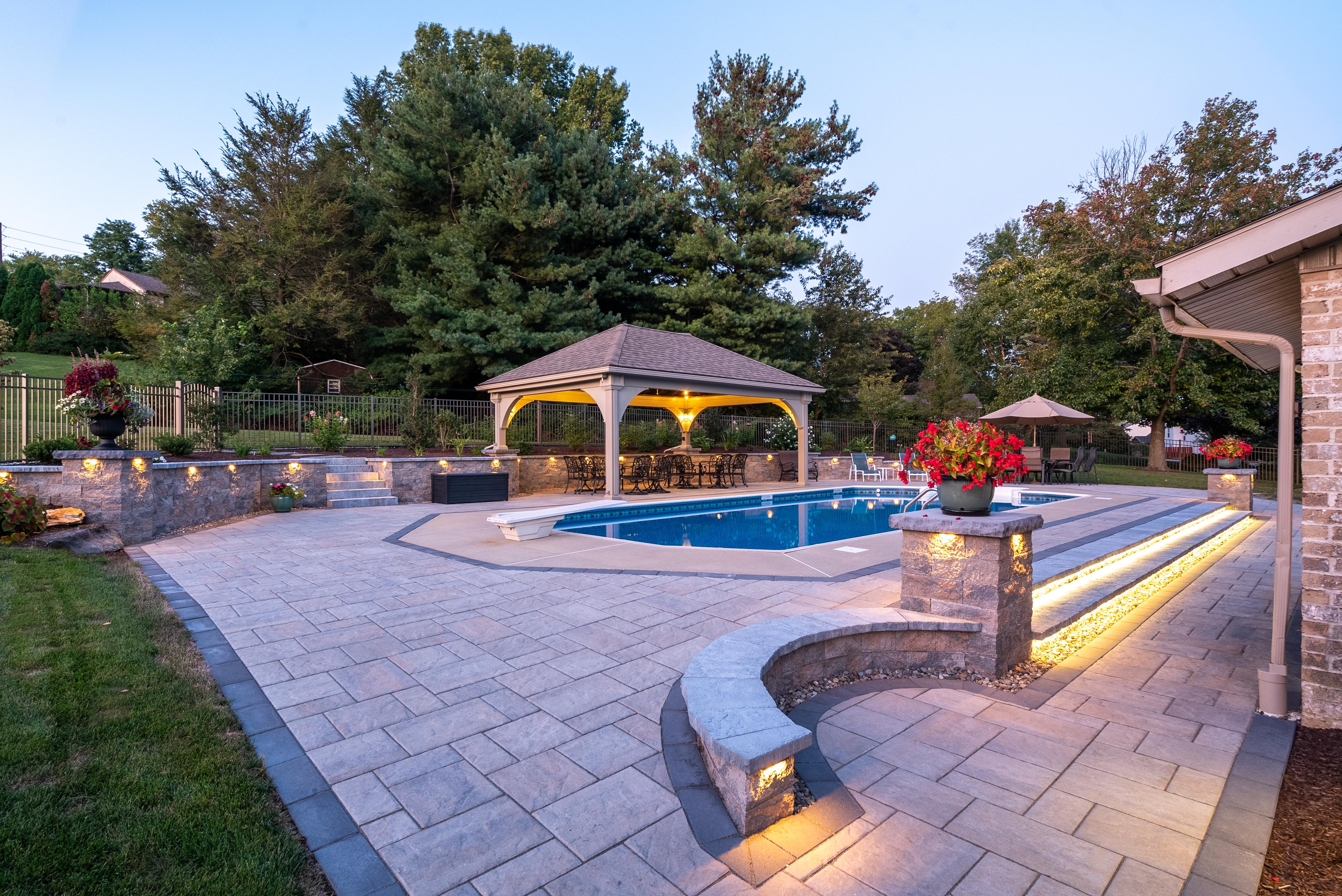 Backyard inground pool