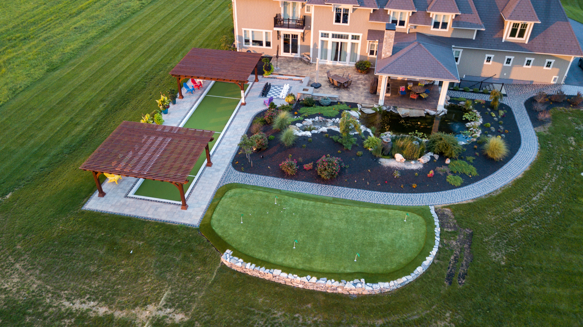 Hardscape aerial view
